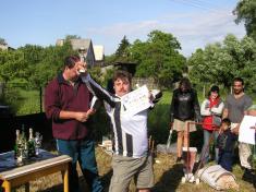 pouťová zábava - pouťový turnaj v malé kopané (3. 7. 2004)